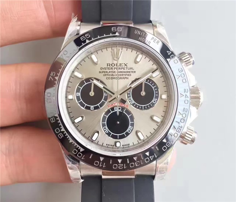 Rolex Daytona Swiss Automatic Watch Gray Dial (High End)