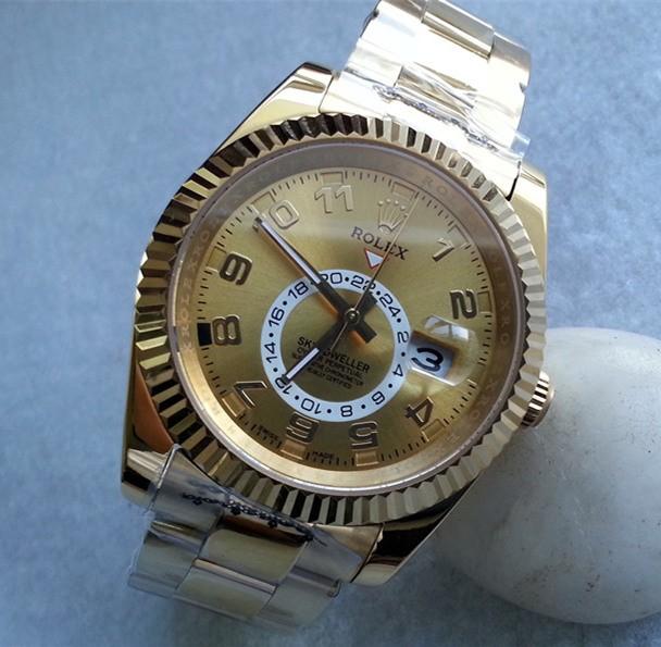 Rolex Sky-Dweller 326938 Gold Men Automatic Replica Watch