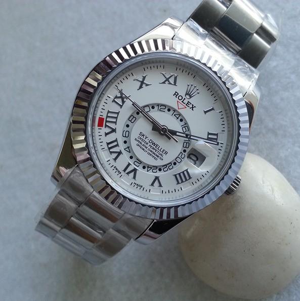 Swiss Rolex Sky-Dweller 326939 White dial Men Automatic Replica Watch(High End)