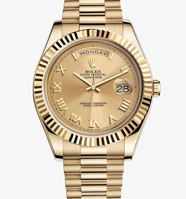 Swiss Rolex Day-Date II 218238 Full Gold