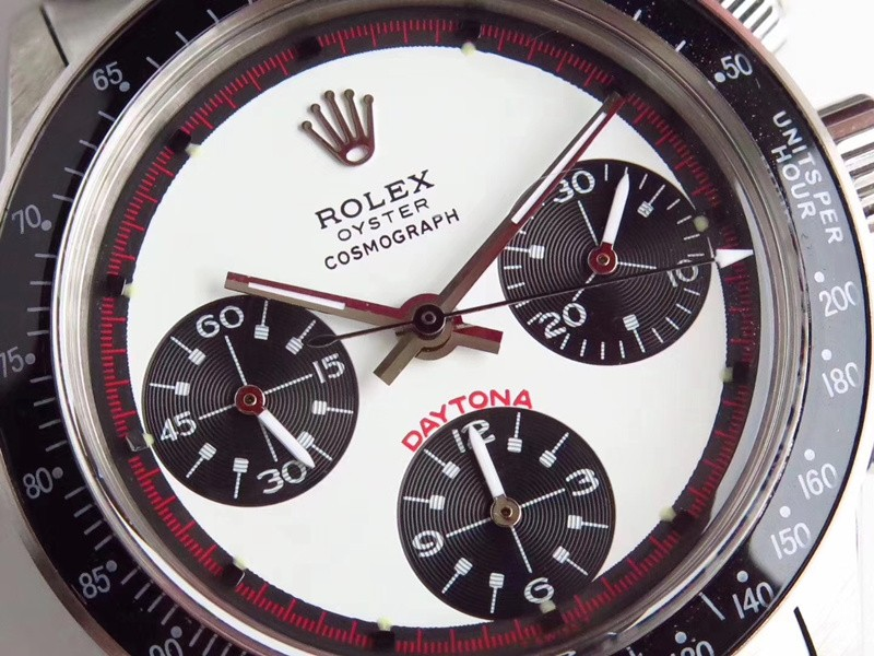 Swiss Rolex Daytona Replica Watches SS Shallow blue Dial Red Inner Meter SS band (High End)