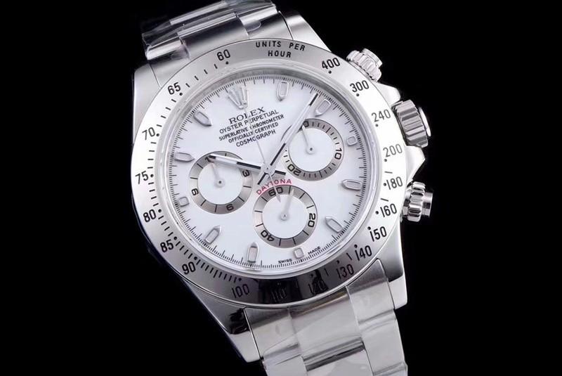 Rolex Daytona Swiss Cal.4130 Replica Watch White Dial 40mm (Super Model)