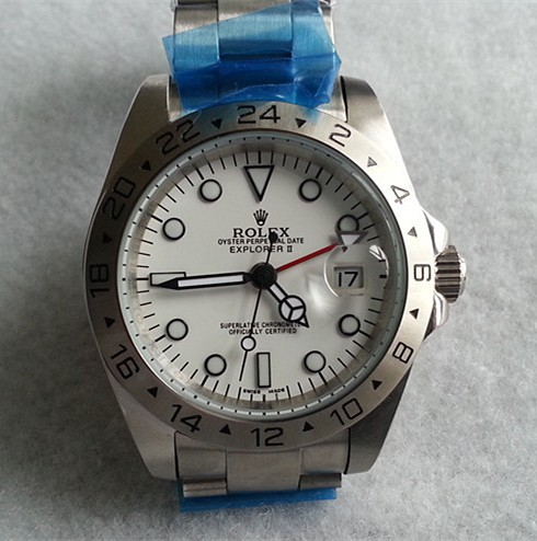 Rolex Explorer Replica Watches SS White Dial RX400