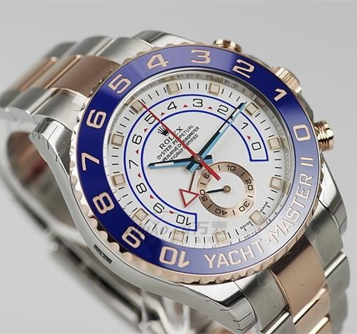 Rolex Yacht-Master II Replica Two-Tone Watch 116681-0001 White Dial 44mm (High End)